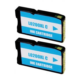 Lexmark 200XL Cyan Pack 2 Cartuchos de Tinta Genericos - Reemplaza 14L0198