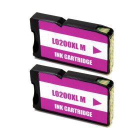 Lexmark 200XL Magenta Pack 2 Cartuchos de Tinta Genericos - Reemplaza 14L0199
