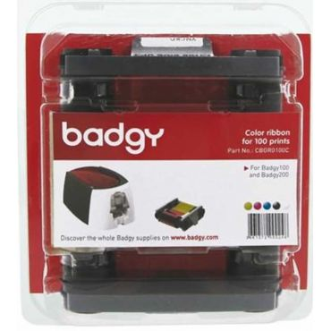 RIBBON COLOR BADGY YMCKO PARA 100 IMPRESIONES (CBGR0100C)