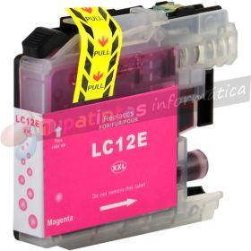 Brother LC12E Magenta Cartucho de Tinta Generico - Reemplaza LC12EM