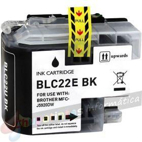 Brother LC22E Negro Cartucho de Tinta Generico - Reemplaza LC22EBK