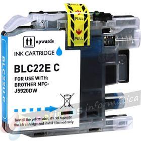 Brother LC22E Cyan Cartucho de Tinta Generico - Reemplaza LC22EC
