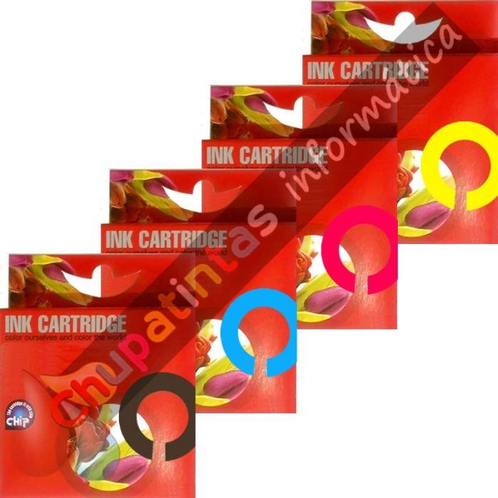 EPSON T0711+T0712+T0713+T0714 COMPATIBLE PACK 4 CARTUCHOS