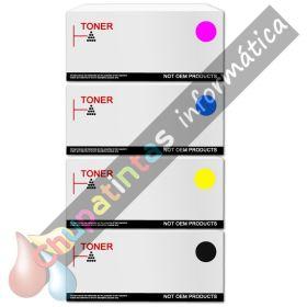 HP Q6000A + Q6001A + Q6002A + Q6003A COMPATIBLE TONER PACK AHORRO HP 124A