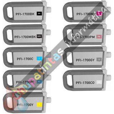 CANON PFI1700/PFI1300/PFI1100 COMPATIBLE PACK AHORRO 9 COLORES