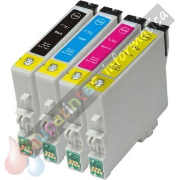 EPSON T0555 (T0551+T0552+T0553+T0554) COMPATIBLE PACK AHORRO 4 CARTUCHOS
