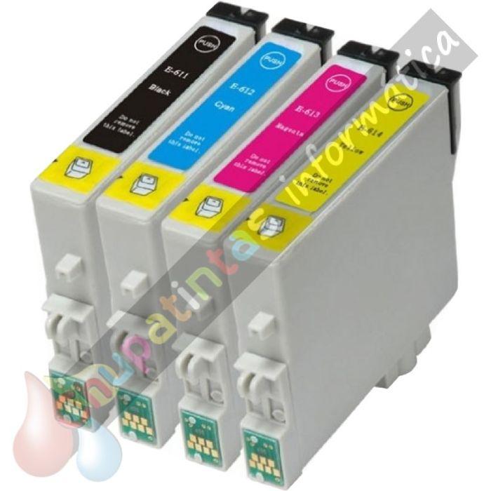 EPSON T0615 (T0611+T0612+T0613+T0614) COMPATIBLE PACK AHORRO 4 CARTUCHOS