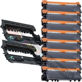 8 BROTHER TN2320 TONER COMPATIBLE + 2 DR2300 TAMBOR COMPATIBLE PACK AHORRO