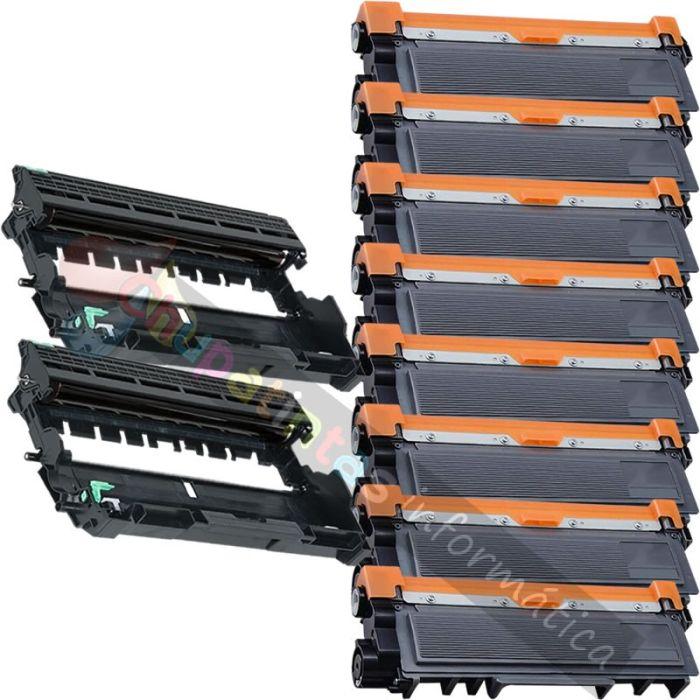 8 BROTHER TN2320 TONER COMPATIBLE + 2 DR2300 TAMBOR COMPATIBLE PACK AHORRO