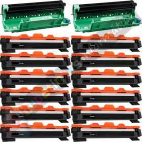 12 BROTHER TN1050 TONER COMPATIBLE + 2 DR1050 TAMBOR COMPATIBLE PACK AHORRO