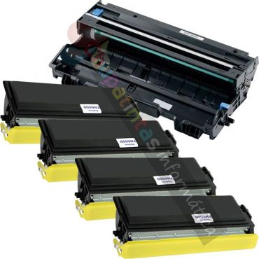 4 BROTHER TN3060/TN6600/TN7600 COMPATIBLE TONER + BROTHER DR3000/DR6000/DR7000 COMPATIBLE TAMBOR PACK AHORRO
