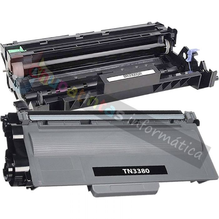 BROTHER TN3380 TONER COMPATIBLE + DR3300 TAMBOR COMPATIBLE PACK AHORRO