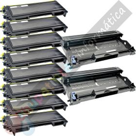 8 BROTHER TN2000 TONER COMPATIBLE + 2 DR2000 TAMBOR COMPATIBLE PACK AHORRO