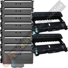 8 BROTHER TN2120 TONER COMPATIBLE + 2 DR2100 TAMBOR COMPATIBLE PACK AHORRO