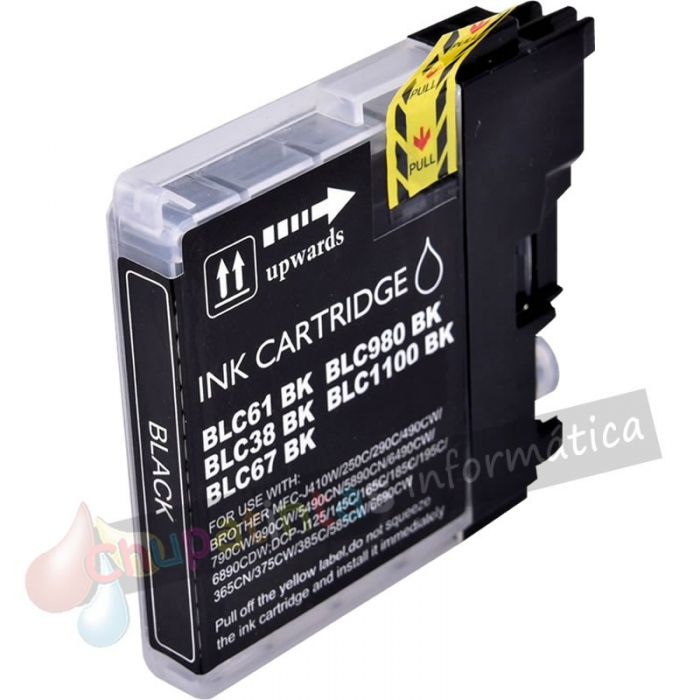 BROTHER LC980/LC1100/LC985 COMPATIBLE NEGRO CAPACIDAD XL