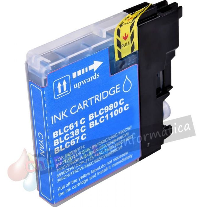 BROTHER LC980/LC1100/LC985 COMPATIBLE CIAN CAPACIDAD XL