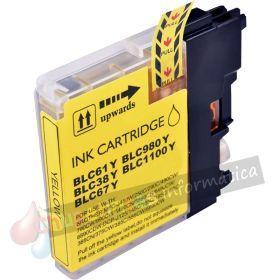 BROTHER LC980/LC1100/LC985 COMPATIBLE AMARILLO CAPACIDAD XL