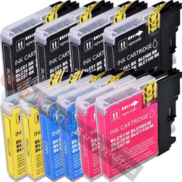 BROTHER LC980/LC1100 / LC985 COMPATIBLE PACK AHORRO 10 CARTUCHOS