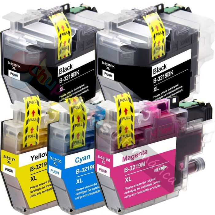 BROTHER LC3219 COMPATIBLE PACK AHORRO 5 CARTUCHOS XL