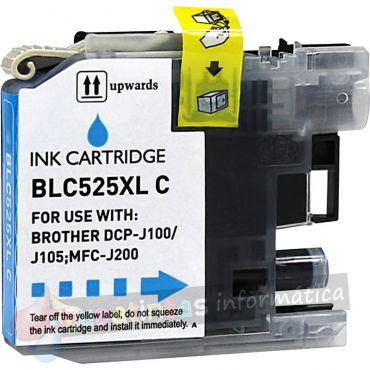 BROTHER LC525 COMPATIBLE CIAN CAPACIDAD XL