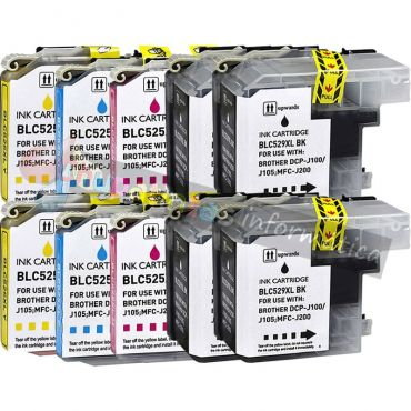 BROTHER LC525 + LC529 COMPATIBLE PACK AHORRO 10 CARTUCHOS XL