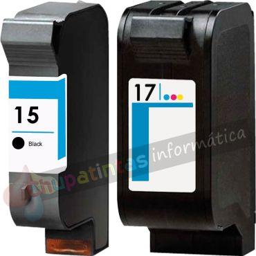 HP 15 + HP 17 COMPATIBLE PACK DE AHORRO CAPACIDAD XL