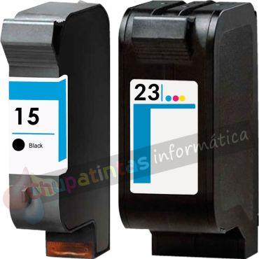 HP 15 + HP 23 COMPATIBLE PACK DE AHORRO