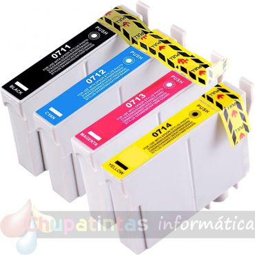 EPSON T0715 (T0711+T0712+T0713+T0714) COMPATIBLE PACK AHORRO 4 CARTUCHOS