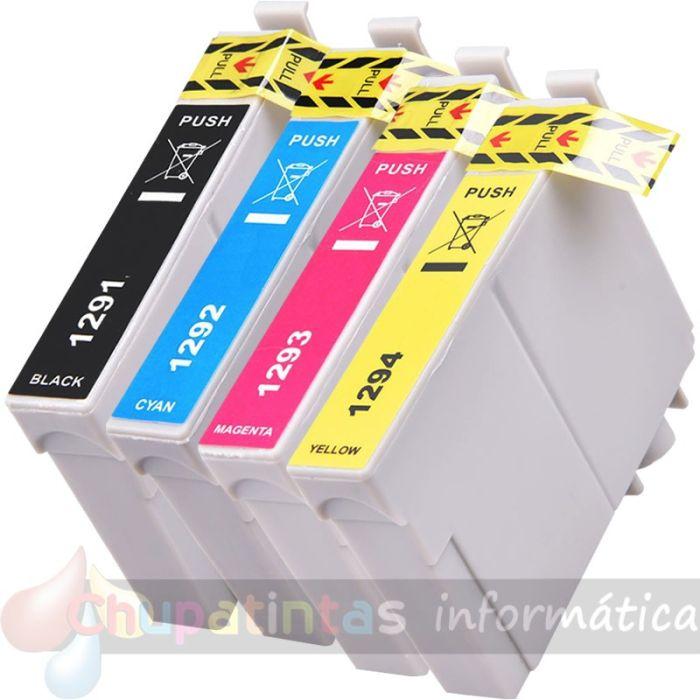 EPSON T1295 (T1291+T1292+T1293+T1294) COMPATIBLE PACK AHORRO 4 CARTUCHOS