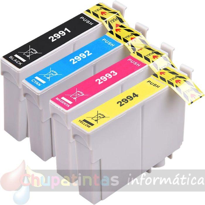 EPSON T2996 (T2991+T2992+T2993+T2994) COMPATIBLE XL PACK AHORRO 4 CARTUCHOS