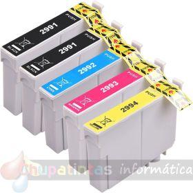 EPSON T2996 (T2991+T2992+T2993+T2994) COMPATIBLE XL PACK AHORRO NEGRO PREMIUM G&G V2