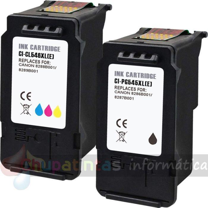 CANON PG545 + CANON CL546 COMPATIBLE CAPACIDAD XL PACK AHORRO 2 CARTUCHOS