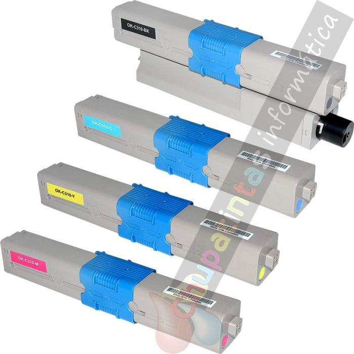 OKI C310 / C330 / C331 / C510 / C511 / C530 / C531 COMPATIBLE PACK DE AHORRO