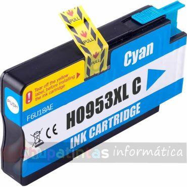 HP 953 COMPATIBLE CIAN CAPACIDAD XL F6U16AE/F6U12AE