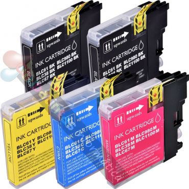BROTHER LC980/LC1100 / LC985 COMPATIBLE PACK AHORRO 5 CARTUCHOS