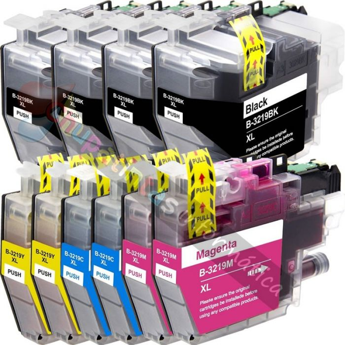 BROTHER LC3219 COMPATIBLE PACK AHORRO 10 CARTUCHOS XL