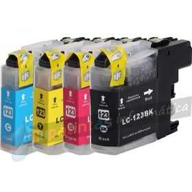 BROTHER LC123 COMPATIBLE PACK AHORRO CAPACIDAD XL