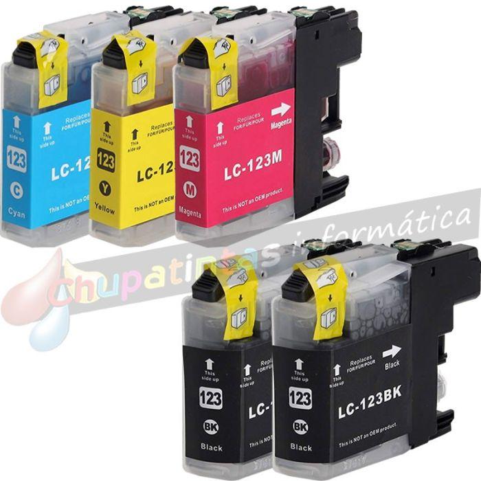 BROTHER LC123/LC121 COMPATIBLE PACK DE AHORRO 5 CARTUCHOS CAPACIDAD XL