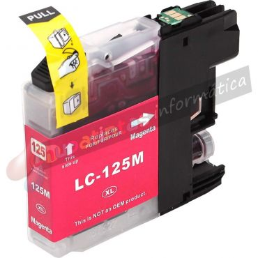BROTHER LC125 COMPATIBLE MAGENTA