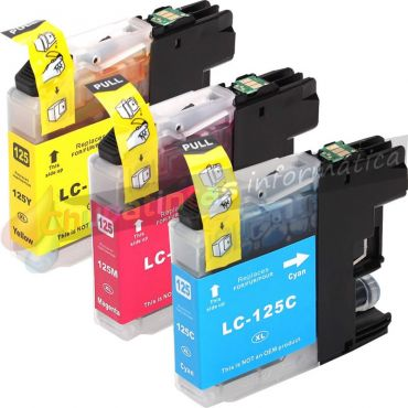 BROTHER LC125 COMPATIBLE PACK AHORRO 3 COLORES