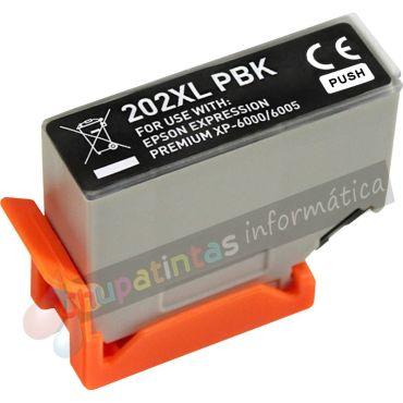 EPSON 202XL COMPATIBLE NEGRO PHOTO CAPACIDAD XL
