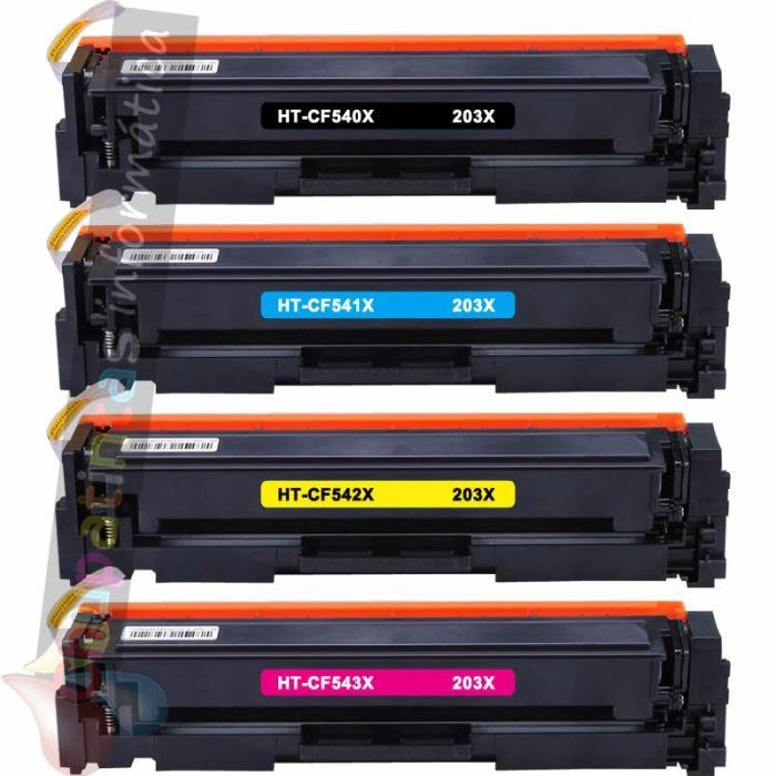 HP CF540X + HP CF541X + HP CF542X + HP CF543X COMPATIBLE TONER HP 203X PACK AHORRO 4 CARTUCHOS