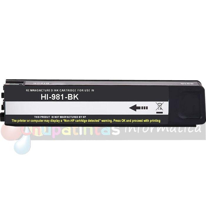 HP 981A   981X Negro COMPATIBLE NEGRO CAPACIDAD XL J3M71A/L0R12A