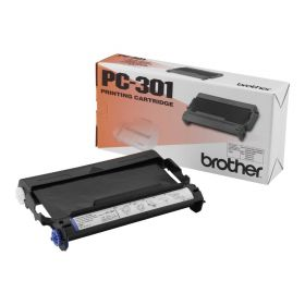 Brother PC301 Cartucho y Rollo de Transferencia Termica Original - 1 Rollo